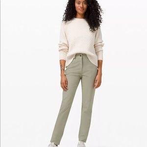 """Lululemon City Sleek 5 Pocket Pant 30"""" Rosemary"""